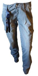 Pantalone Casual Cargo Tasche Tasconi Donna Cerniere Caviglia FLY GIRL Tg 44 W30