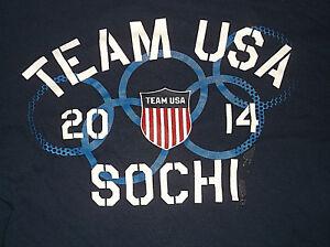 2014 TEAM USA Sochi Winter Olympic Games  T Shirt Sz XXL 2XL Russia 100% Cotton