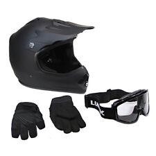 Lunatic Youth MX / ATV Helmet, Goggles & Gloves - DOT Approved - Boys Girls Kids