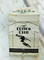 Vintage The Cotton Club Matchbook Cover (empty)