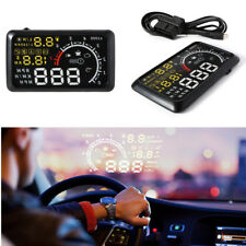 """Multifunctional LCD 5.5"""" Auto Truck HUD Head Up Display Over Speed Warning OBDII"""