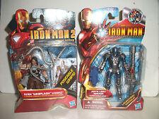 "marvel IRON MAN ivan ""whiplsh"" & war machine Artillery armor RARE new on cards"