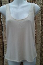 M&S LIMITED COLLECTION BNWT Cream Wool Mix Sleeveless Sweater Size M RRP £29.50