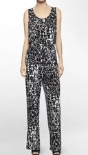 a8bde08db239 Ladies CALVIN KLEIN Black White Stretch Jumpsuit. Size 10. EUC