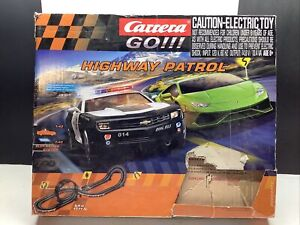Carrera GO!! Highway Patrol 1:43 Scale Electric Slot Car Race Track Set Complete
