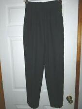 Vtg 80s 90s Women's Counterparts Poly/Rayon Pleated High Waist Pants Trousers 6