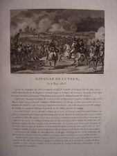 Gravure Bataille de LUTZEN Napoléon Bonaparte Lützen Bataille de Großgörschen
