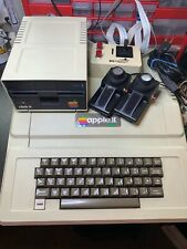 Apple II 2 plus computer tested system setup Disk Drive Joystick in box Recapped
