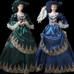 Women Medieval Dress Renaissance Victorian Costume Ball Gown Masquerade Theater