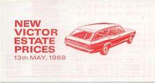 Vauxhall Victor Estate Original UK  Price  List 1968