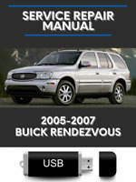 Buick Rendezvous 2005 2006 2007 FACTORY SERVICE REPAIR WORKSHOP MANUAL USB