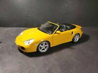 Maisto Porsche 911 Turbo Carrera Cabriolet Yellow 1:18 Scale Diecast Model Car