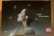 Publicité advertising radio rtl listening earth turn (double page)