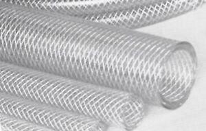 """PVC HOSE, CLEAR REINFORCED. 1/2"""" (12.5mm) bore - choose length PVC500R"""