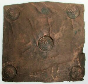 1757 SWEDEN 4 DALER PLATE MONEY SALVAGE 1781 SHIPWRECK SCHIMMELMANN & COA