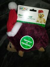 * NEW* Outward Hound Holiday Hedgehog 9' Medium Squeaky & Grunting Toy For Dogs