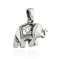Elephant Pendant - 925 Sterling Silver - Ceremonial Animal Trunk NEW