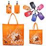 Fashion Reusable Eco Shopper Folding Shopping Shoudler Bag Floral Butterfly Tote