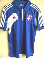 MLS Adidas Clima-Cool FC Dallas Soccer Polo Shirt L NEW