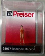 Preiser 28077 1/87 - H0 Scale Standing Female in Swimsuit  Pre-Painted figure