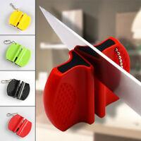 Portable Mini Small Pocket Steel Camp Kitchen Camping Knife Sharpener Stone Tool