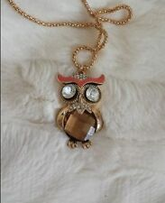 Small Owl Pendant Necklace