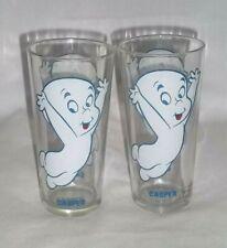 2 Casper The Friendly Ghost Glass Pepsi Collector Series 1973 Warner Bros Harvey