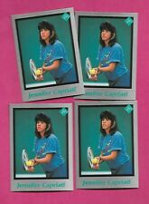 4 X  RARE JENNIFER CAPRIATI  TENNIS PLAYER MINT CARD (INV# C3262)