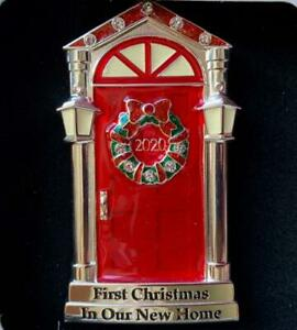 2020 1ST~FIRST CHRISTMAS IN OUR NEW HOME RED DOOR ORNAMENT~EUROPEAN CRYSTALS~NIB