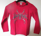 * ORCHESTRA * TEE SHIRT MANCHES LONGUES ROUGE CARMIN *Fille 8 ans -120cm