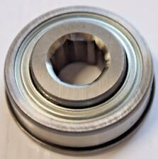 "Premium RX84 Single Row AG Ball Bearing | 11/16"" Hex Bore Flanged OD Trash Seals"