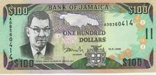 A   SAISIR     BILLET   100  DOLLARS  JAMAIQUE     NEUF   2006     !!!!    UNC .