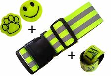 New 10 PCS LW Reflective Safety set: Reflective Belt, Pair ankle bands, Stickers