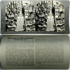 Keystone Stereoview EMPIRE STATE BUILDING, NY from Zeppelin 600/1200 Card Set #A