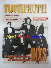 rivista TUTTIFRUTTI 134/1993 INSX Janet Lackson Ramazzotti Iggy Pop Coldcut Nocd