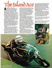 vintage CHARLIE WILLIAMS MOTORCYCLE Racing Article / Photo's