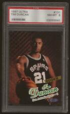 1997-98 Ultra Basketball #131 Tim Duncan RC PSA 8 NM-MT Spurs HOF