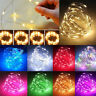 20-100 LED Battery Micro Rice Wire Copper Fairy String Lights Party white/rgb
