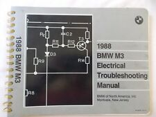 BMW 1988 M3 electrical troubleshooting  manual genuine factory tool.!