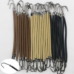 20Pcs Black Hair Ponytail Hooks Claw Holder Bungee Band Women Hair Accessories