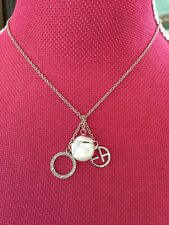 NWT New Emporio Armani 3 Charm Womens Necklace EG1803040 Sterling Silver $175