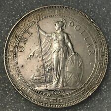 1899 B UNITED KINGDOM Silver 1 BRITISH TRADE DOLLAR Coin, (.900), 26.95g, 39mm.