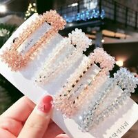 Ladies Hair Clip Hairband Comb Crystal Bead Hairpin Barrette Hairpin Headdress