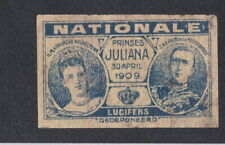 Ancienne  étiquette   allumettes Hollande BN67746 Reine Juliana