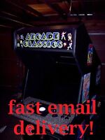 10 Hour PC Arcade Project Plans!!  DIY! MAME (TM)! FREE SHIPPING!!