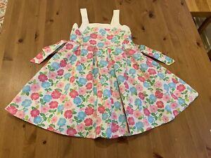 Gymboree Girls Sz 6 Spring Floral Panel Lined Dress 2007 Vintage