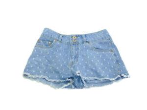 Levi's Shorts Blue Denim High Rise Embellished Shorty Women Size 14 Regular