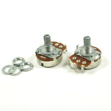 A pair of 250K A&B Control Pots Split Shaft Potentiometer 15mm Shaft, Full Size