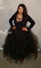 Long Tutu Black Purple Red Tulle Maxi skirt Net tutu Witch Gothic wedding 6-22
