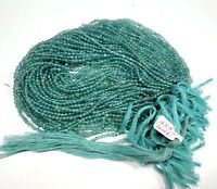 5 Strand Lot Finest Natural Apatite Gemstone 3-4mm Smooth Round Loose Beads 13""